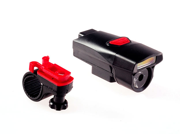 Přední LED světlo na kolo S-880 3W COB + 2W LED, černá