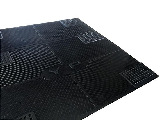 Gumová antivibrační podložka pod pračku 6596 60 x 60 x 0,4 cm, černá
