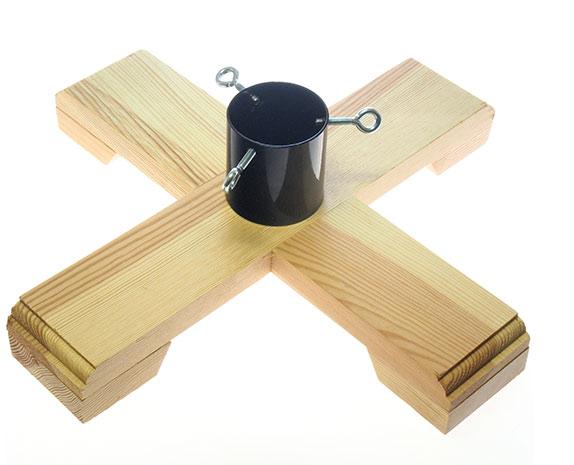 Dřevěný stojan na vánoční stromek 70 mm 6712, 45 x 45 cm