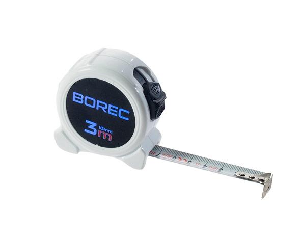Metr svinovací se jménem Borec 3 m, bílý