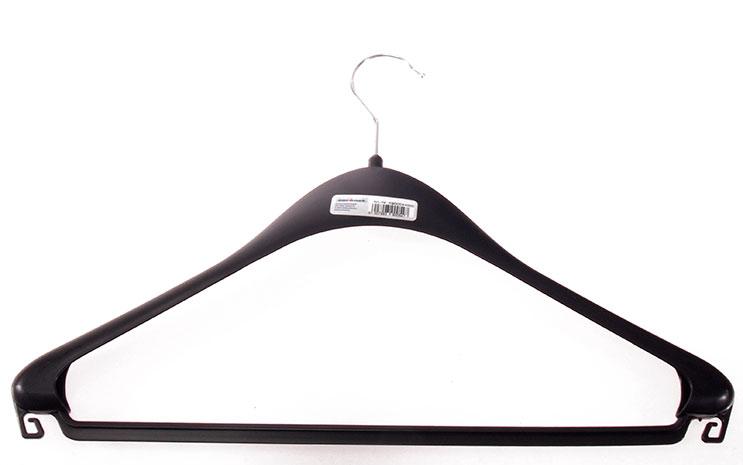 Plastové ramínko na šaty, kalhoty a sukně 6566 44 cm, černá