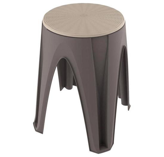 Plastová otočná stolička do 150 kg Stool do domácnosti 35x35x45,5 cm, hnědá
