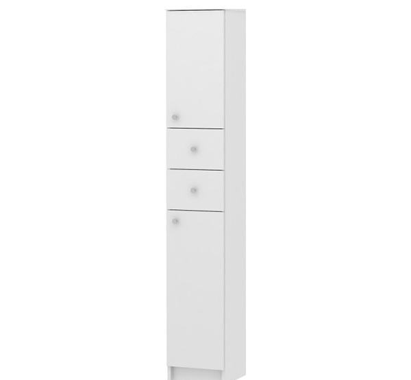 Koupelnová skříňka do úzkých prostor SI13, bílá
