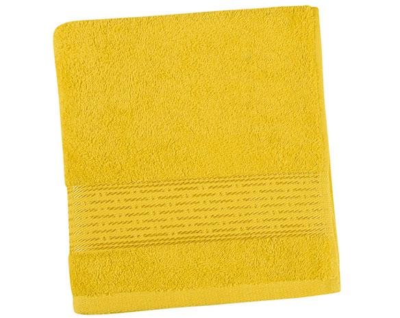 Osuška KAMILKA proužek 70 x 140 cm - žlutá