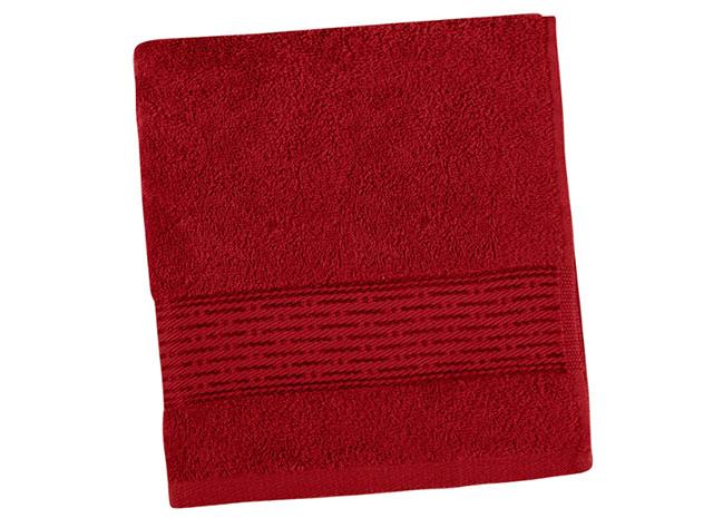 Osuška KAMILKA proužek 70 x 140 cm - červená