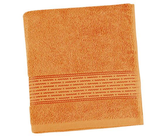 Osuška KAMILKA proužek 70 x 140 cm - oranžová