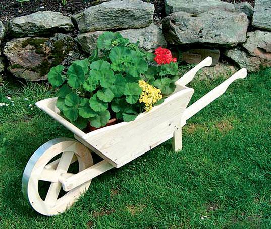 Dekorační květináč - trakař