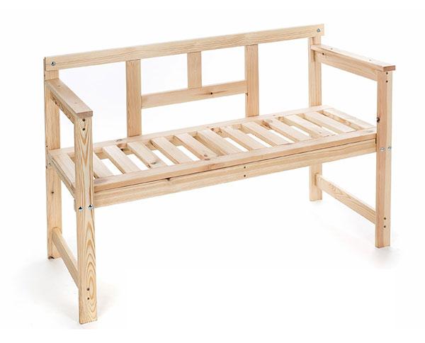 Zahradní lavice dřevěná 120 x 45 x 80 cm 37LAV01, VTP