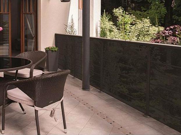 Stínící tkanina na plot Clona 95% stínění 1,5 x 10 m, šedá