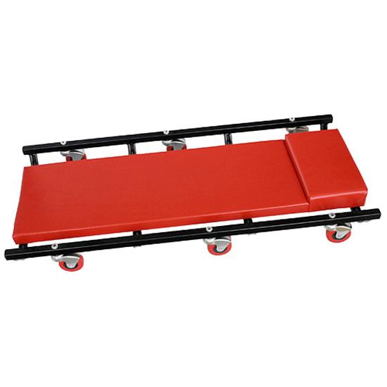 Pojízdné kovové lehátko pod auto TR6451 93 x 44 x 10 cm, červená