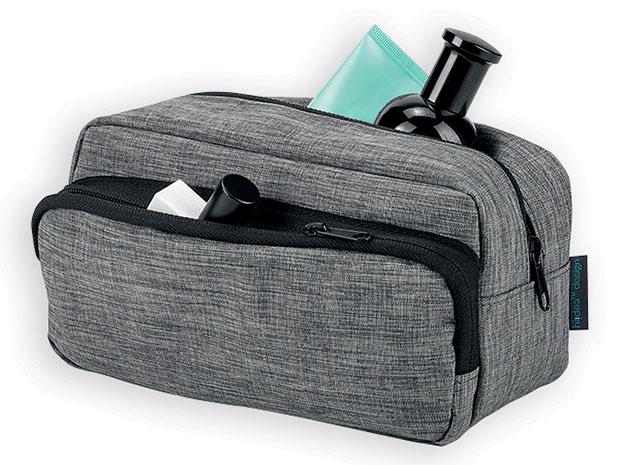 Cestovní pánská kosmetická taška KEVIN polyesterová 300D, šedá